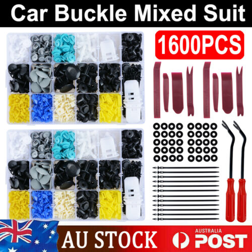 651PCS Car Body Trim Clips Plastic Kit Retainer Bumper Auto Panel Push Fastener