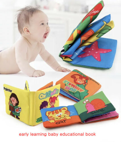 Book Interactive Education Soft Cloth Book Baby Toddler Infant