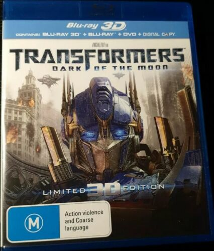 Transformers - Dark Of The Moon 3D + Blu-ray + Dvd Limited Edition (5 Disc Set)