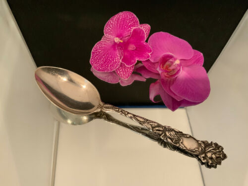 ALVIN BRIDAL ROSE OVAL SOUP SPOONS - 7 1/8""