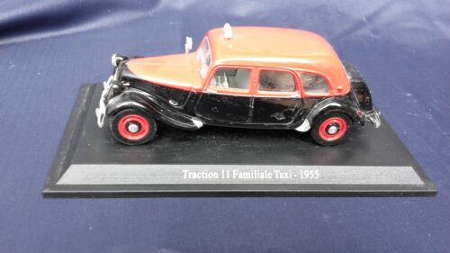Voiture miniature CITROËN TRACTION 11 familiale taxi 1955 1/43 ATLAS