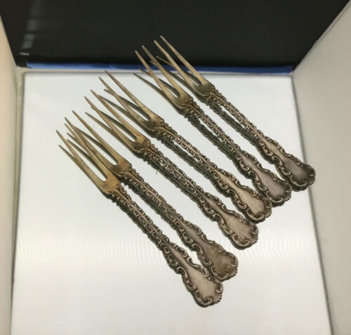 ~6~ WHITING LOUIS XV  STERLING BERRY FORKS