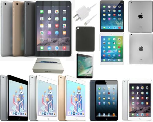 Apple iPad mini 1/2/3/4, 16GB,32GB,64G,128GB All Colors WiFi Only and Networks