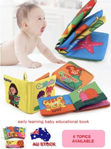 Book Interactive Education Soft Cloth Book Baby Toddler Infant Toy