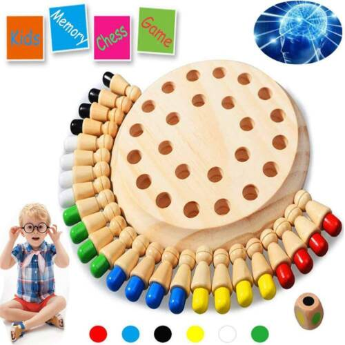 Memory Match Stick Chess Game Kids Educational Wooden  Baby Toy Learning Toys AU
