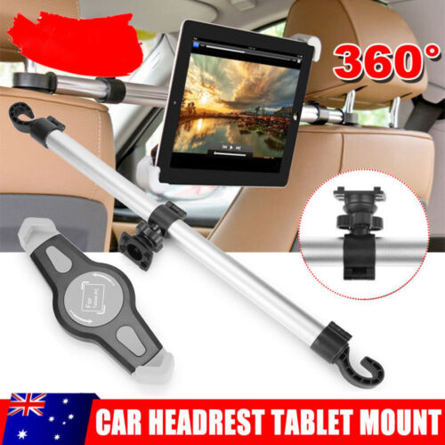 """Car Back Seat Holder Mount Headrest 360° Rotating For iPhone iPad Tablet 7-11"""""""