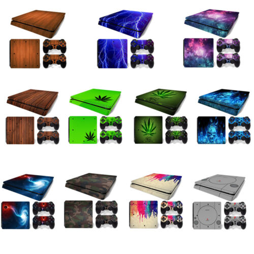 For Playstation 4 PS4 Slim Console Skin Decal Sticker +2 Controller Skins