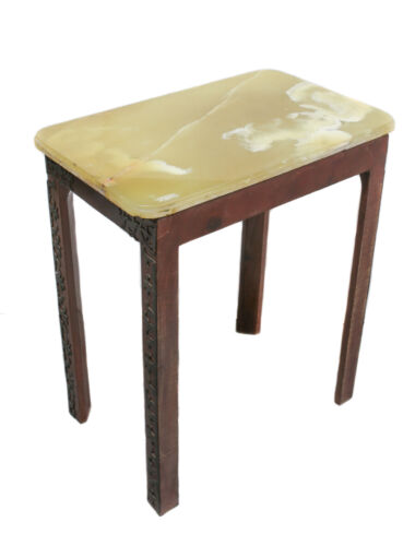 19th century Continental Green Onyx Rectangular top Occasional table