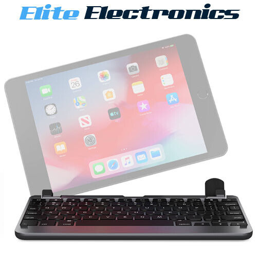 "Brydge Wireless Bluetooth Keyboard for iPad 7.9"" Mini 4th 5th Gen Grey"