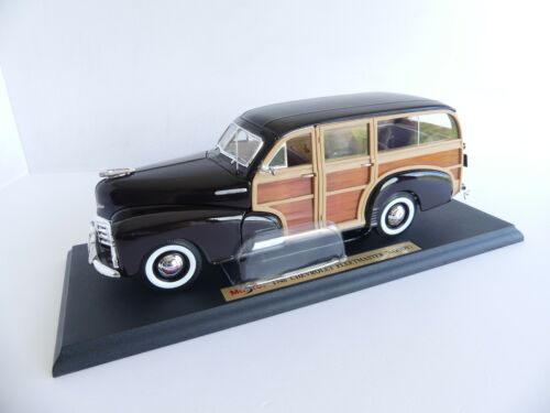 MAISTO 1/18 SPECIAL EDITION VOITURE CHEVROLET FLEETMASTER (WOODY) 1948