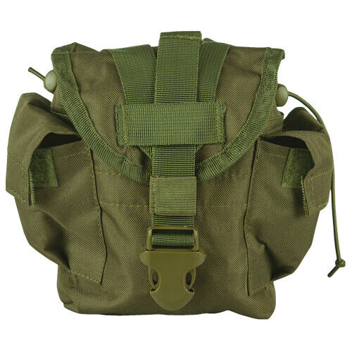 NEW Military Style Tactical Survival MOLLE 1 qt Canteen Cover Pouch OD GREEN OLVCanteens - 158438
