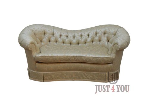 Baker Tufted Upholstered Settee