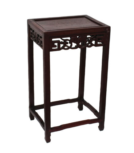 Mid Century Small Chinese accent table with openwork carvings