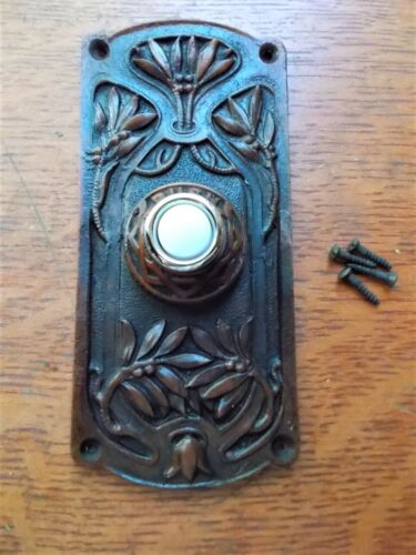 """New Lighted Victorian Craftsman Eastlake """"Olive Tree"""" Doorbell Button"""