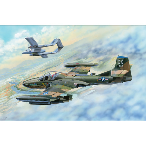 Trumpeter 02889 1/48 US A-37B Dragonfly Light Ground-Attack Aircraft - TR02889