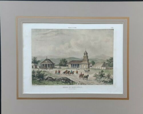 Chile Rugendas Claudio Gay1854 Lithography Valdivia