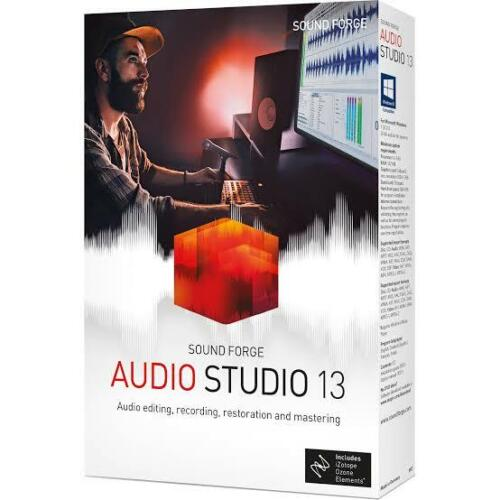 Magix Sound Forge Audio Studio 13 Digital Software for Windows