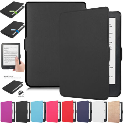 Auto Wake/Sleep Smart eReader Magnetic Leather Case Cover For Kobo Clara HD 2018