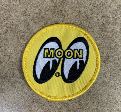 Mooneyes Moon Patch Badge Emblem Iron-On Embroidered Patch