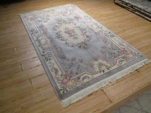 5x8 ESTATE CHINESE VEGETABLE DYE HANDMADE-KNOTTED-CARVED 100% WOOL RUG 583303