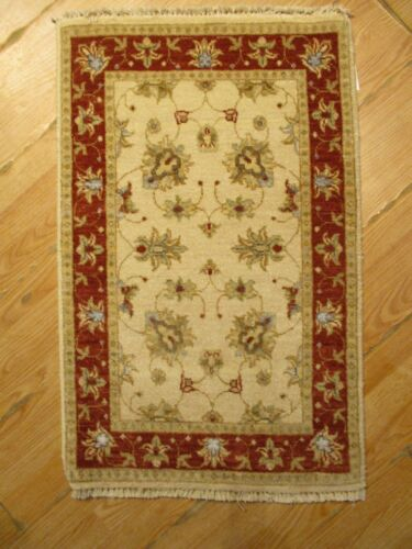 2x3 MUSEUM UNIQUE DESIGN VEGETABLE DYE HANDMADE-KNOTTED WOOL/SILK RUG 582437