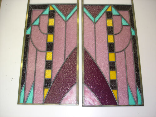2 Beautiful Stained glass window Huge Made By A Master Highest Quality (3)