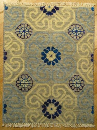 2x3 Modern Agra ABC Collection Vegetable Dye Handmade-knotted Wool Rug 585838