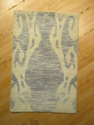 2x3 Modern Agra ABC Collection Vegetable Dye Handmade-knotted Wool Rug 585830