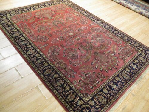 5x8 Gorgeous Antique Design Vegetable Dye Handmade-knotted Wool Rug 583041