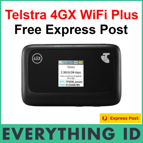 TELSTRA 4G 4GX PREPAID WIFI PLUS MODEM HOTSPOT ZTE MF910Y AU STOCK +3GB DATA SIM
