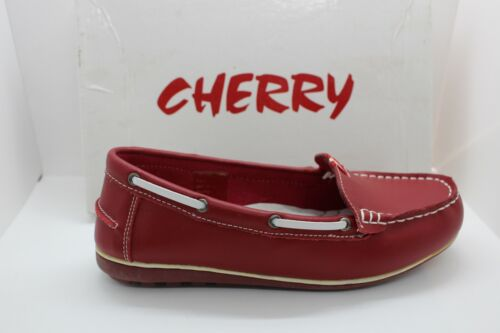 SHOES/FOOTWEAR - Cherry slip on shoe Natural red moccasin