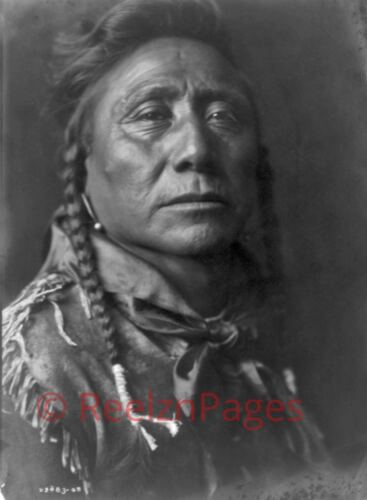 New Art Print 1908 Edward Curtis Photo Coups Well Known Apsaroke Indian 11X17
