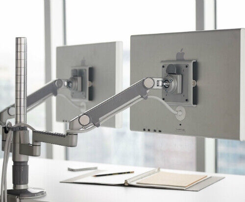HUMANSCALE Double monitor arm and fixing base in good condition #1503