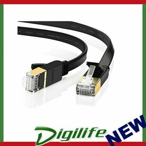 Edimax 15m Black 10GbE Shielded CAT7 Network Cable - Flat EA3-150SFW