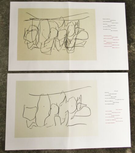 ROBERT MOTHERWELL - TWO (2) ORIGINAL LITHOGRAPHS - 1987 - FREE SHIP IN US !!