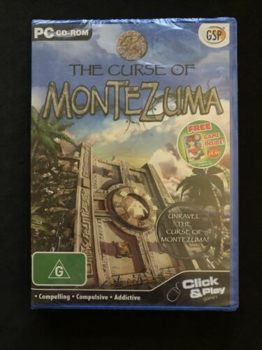 *New Sealed* The Curse of Montezuma - PC CD-ROM Puzzle Hidden Object Game