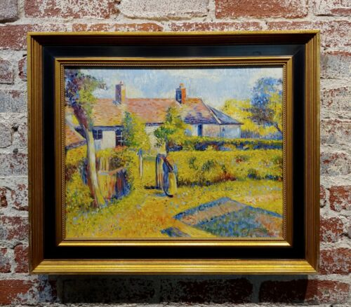 In the Manner of Camille Pissarro -Peasant Country House-Oil painting
