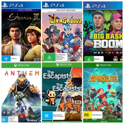 Video Game Bundle Lot Individual Sale Brand New - PS4 - XBOX One