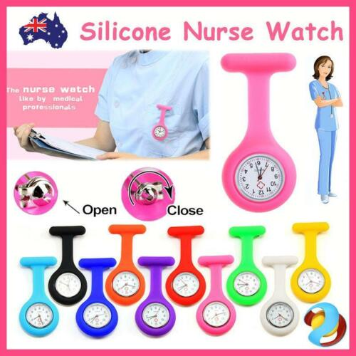 Silicone Nurse Watch Pocket Watch Pin Brooch Tunic Fob Nursing Nurses Pendant