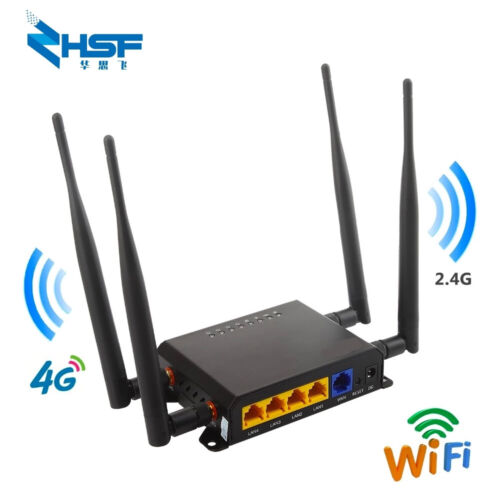 Industrial WIFI Router SIM Card Slot GD 4G LTE Wireless Router VPN M2M
