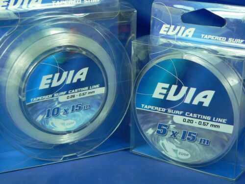 Monofilo Evia shock leader Tapered surf casting line, beach legering