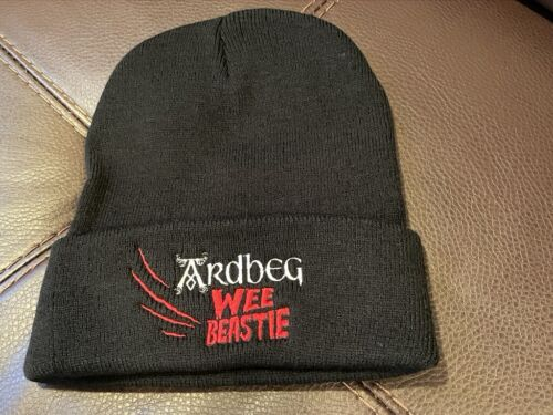 ARDBEG SCOTCH WHISKY WEE BEASTIE WINTER BEANIE HAT IMPOSSIBLE TO FIND BRAND NEW