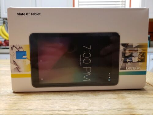 Slate 8in Tablet 16GB Sprint Wifi 4G Black Android OS