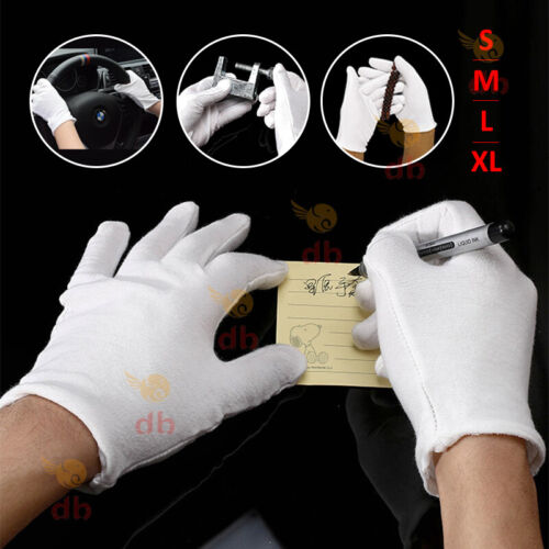 10/20Pairs Handling Work Hands Protector Costume Jewellery Cotton White Gloves