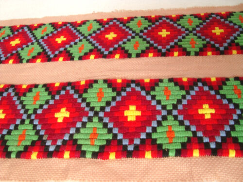 Vintage Beautiful Ottoman style Very Old Hand-Embroidered Tapestry or Motif 07