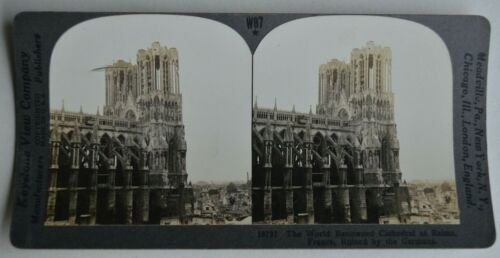 Keystone View, WORLD RENOWNED CATHEDRAL AT REIMS, FRANCE, RUINED BY GERMANS