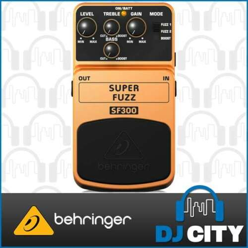 Behringer Super Fuzz SF300 Electric Guitar Effects Pedal Distortion Stompbox