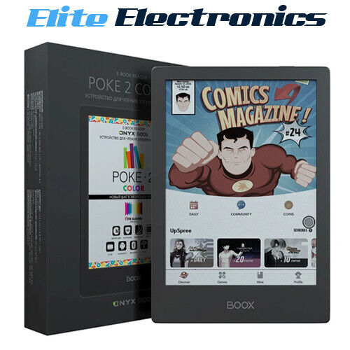 """ONYX BOOX Poke2 Colour 6"""" Android eReader eBook Kaleido Touch Screen"""
