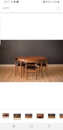 Han's Olsen Frem Rojle Retro Table and Chairs original , complete with stamp