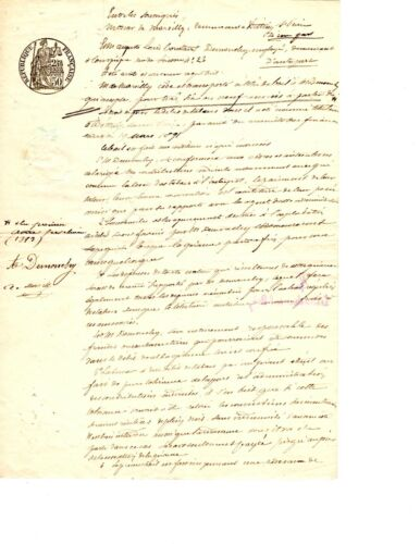 Another 1893 French Lease Agreement Manuscript